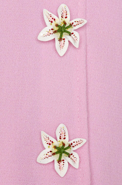 Image 5 of Dolce & Gabbana Embellished Rosa Skirt in Light Pink