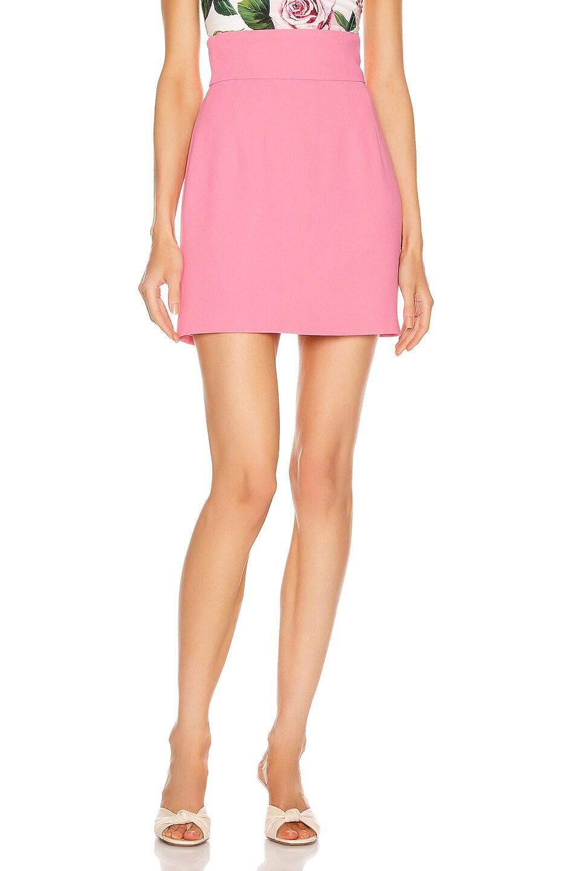 Image 1 of Dolce & Gabbana Mini Skirt in Dark Rose