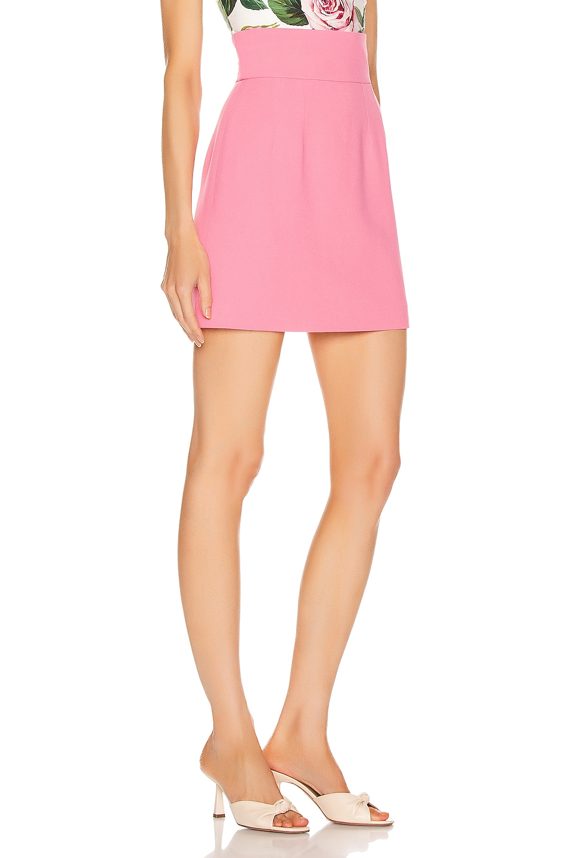 Image 2 of Dolce & Gabbana Mini Skirt in Dark Rose