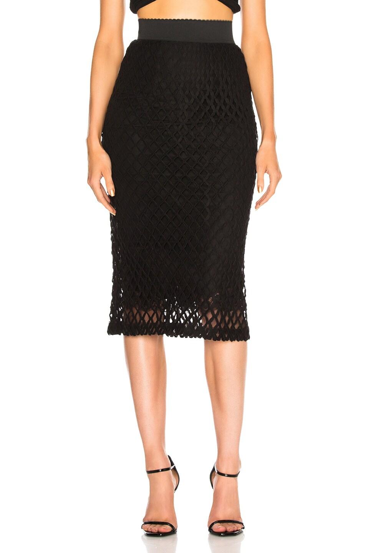 Image 2 of Dolce & Gabbana Knit Midi Skirt in Black
