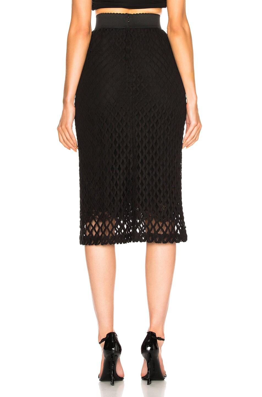 Image 4 of Dolce & Gabbana Knit Midi Skirt in Black