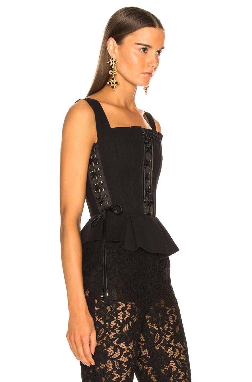 Image 2 of Dolce & Gabbana Corset Tank Top in Black