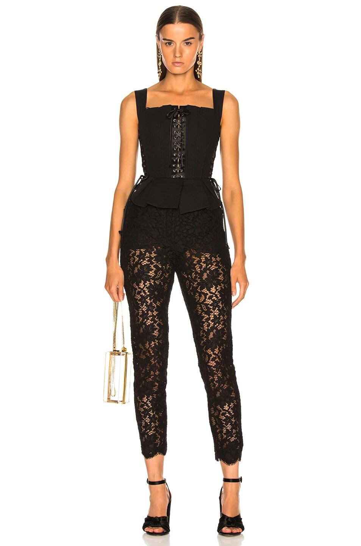 Image 4 of Dolce & Gabbana Corset Tank Top in Black