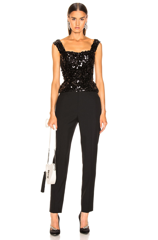 Image 4 of Dolce & Gabbana Sequin Bustier in Black