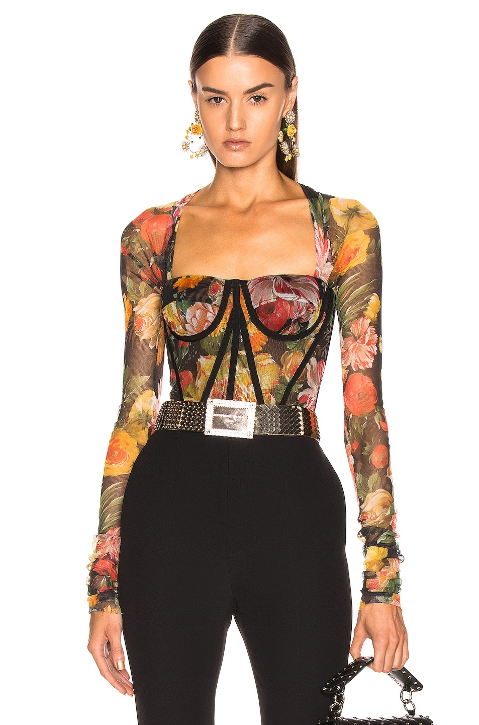 Image 1 of Dolce & Gabbana Floral Bustier Top in Multi