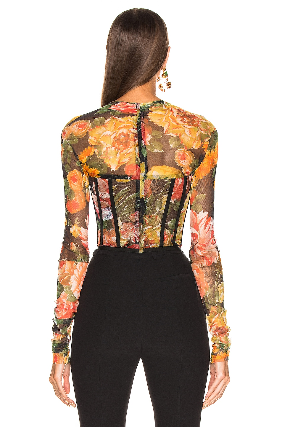 Image 3 of Dolce & Gabbana Floral Bustier Top in Multi