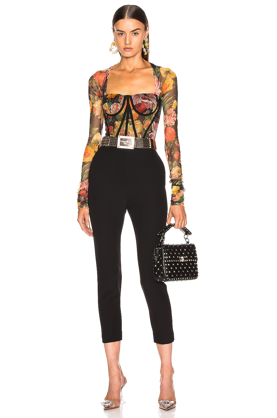 Image 4 of Dolce & Gabbana Floral Bustier Top in Multi
