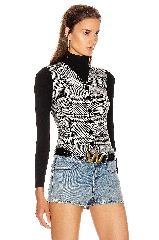 Image 2 of Dolce & Gabbana Check Vest Top in Grey