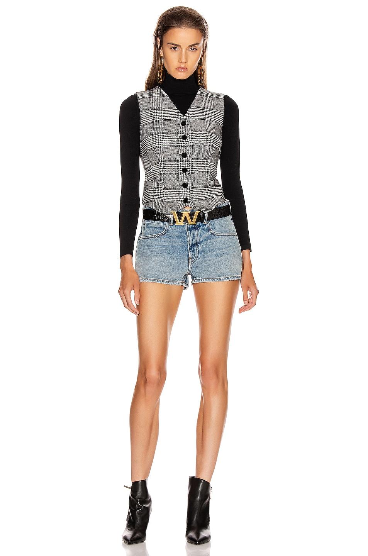 Image 4 of Dolce & Gabbana Check Vest Top in Grey