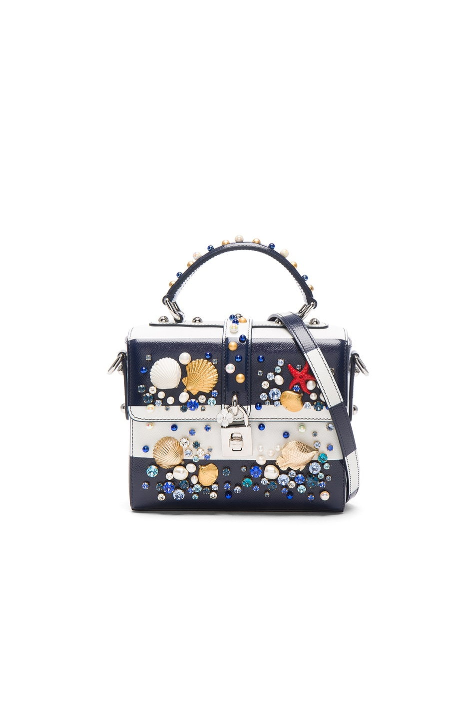 Image 1 of Dolce & Gabbana Top Handle Bag in Blue Stripe