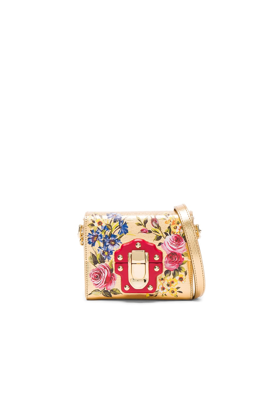 Image 1 of Dolce & Gabbana Soft Square Bag in Gold & Multicolor