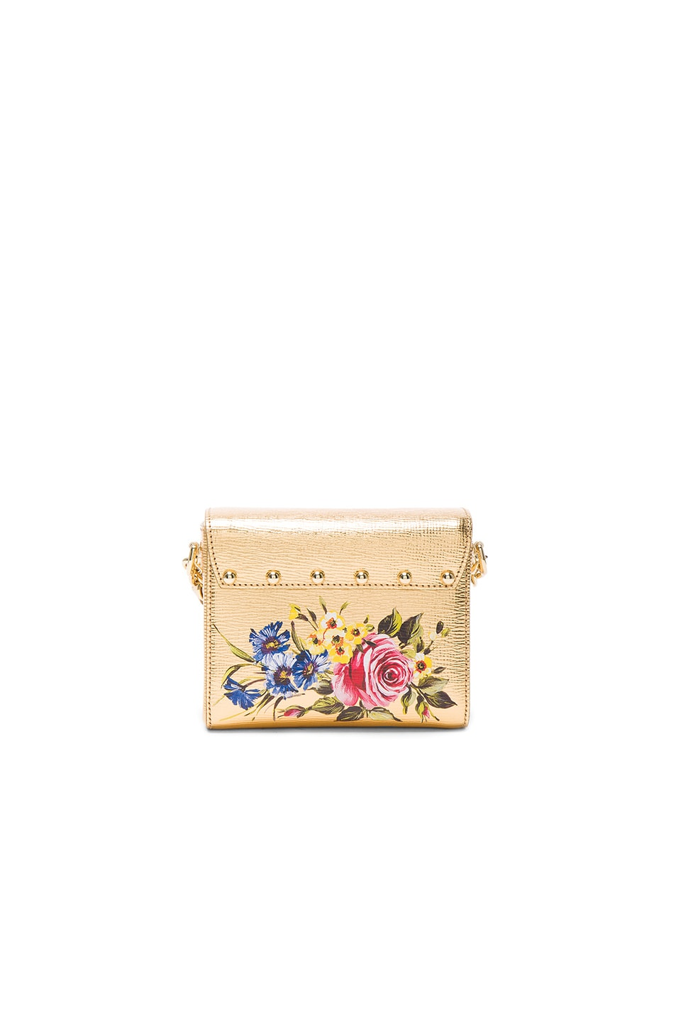 Image 2 of Dolce & Gabbana Soft Square Bag in Gold & Multicolor