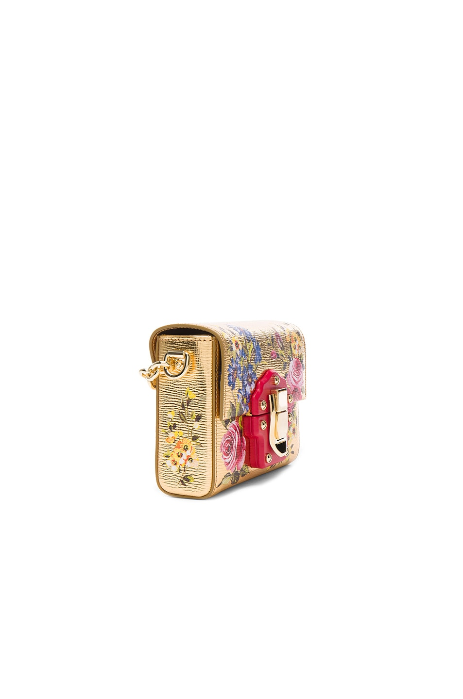 Image 3 of Dolce & Gabbana Soft Square Bag in Gold & Multicolor