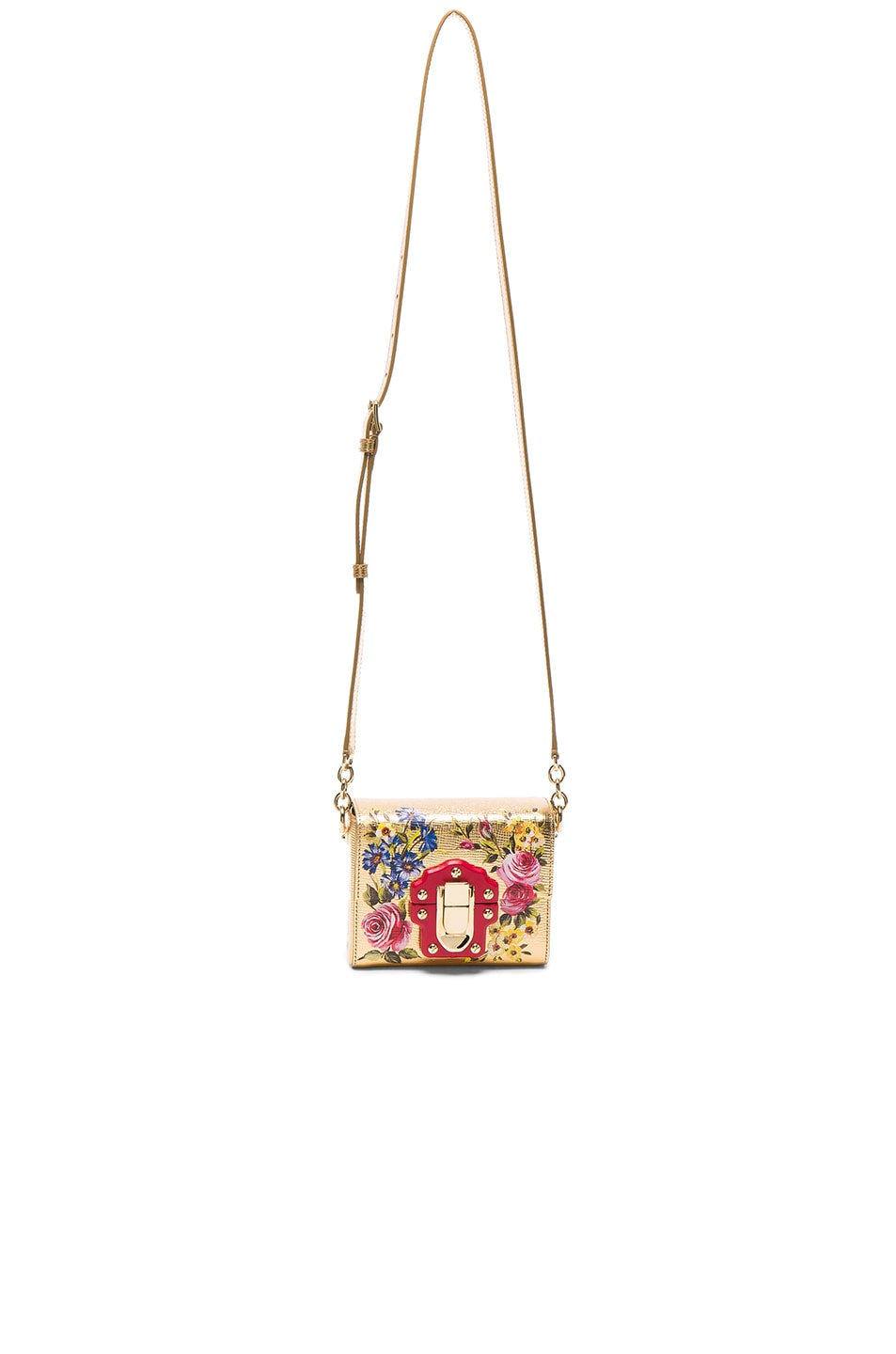 Image 5 of Dolce & Gabbana Soft Square Bag in Gold & Multicolor