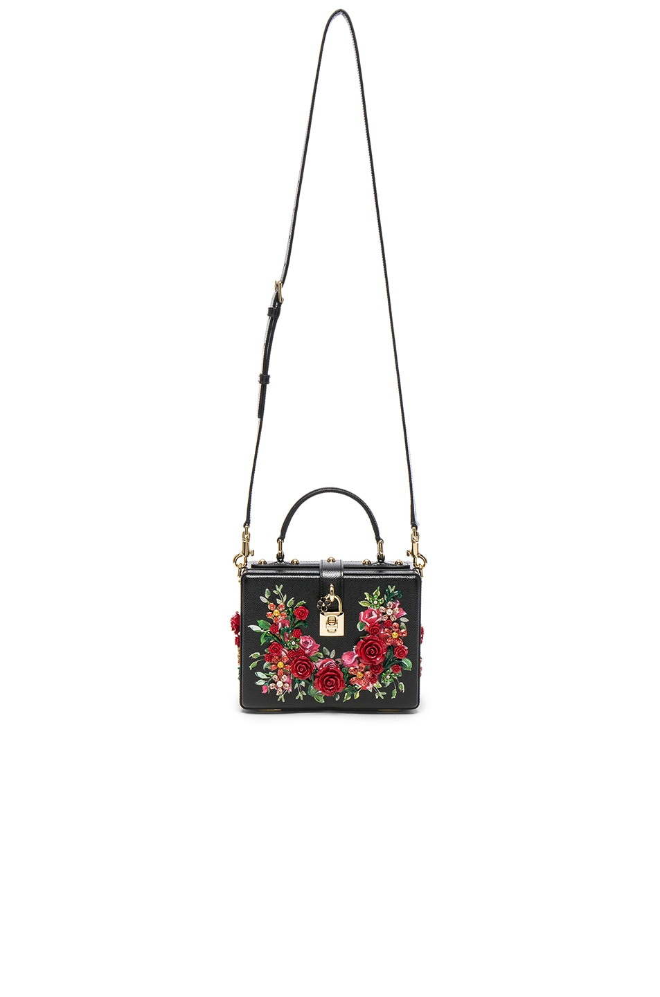 Image 5 of Dolce & Gabbana Studded Soft Bag in Black & Red