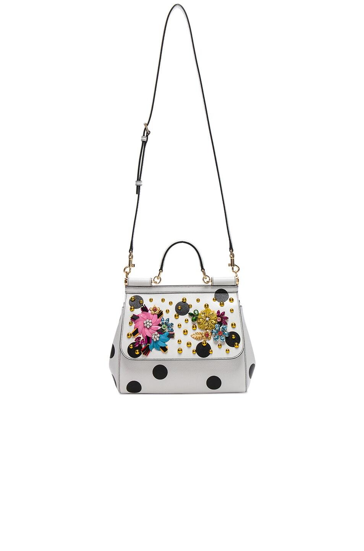 32533b8af937 Image 5 of Dolce   Gabbana Medium Sicily Bag in White