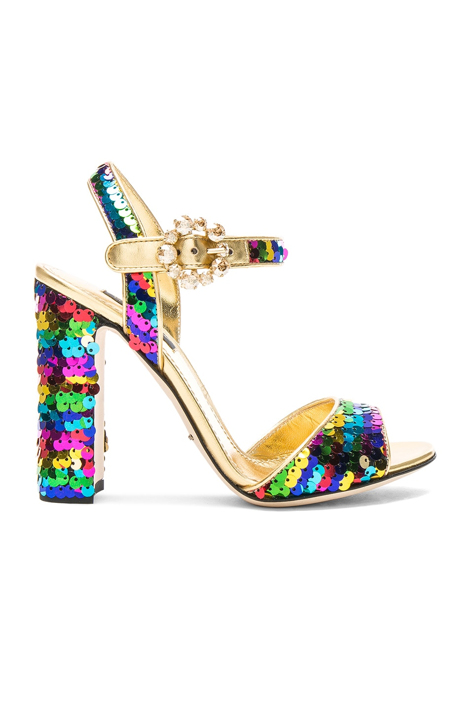 Image 1 of Dolce & Gabbana Sequin Sandals in Multicolor