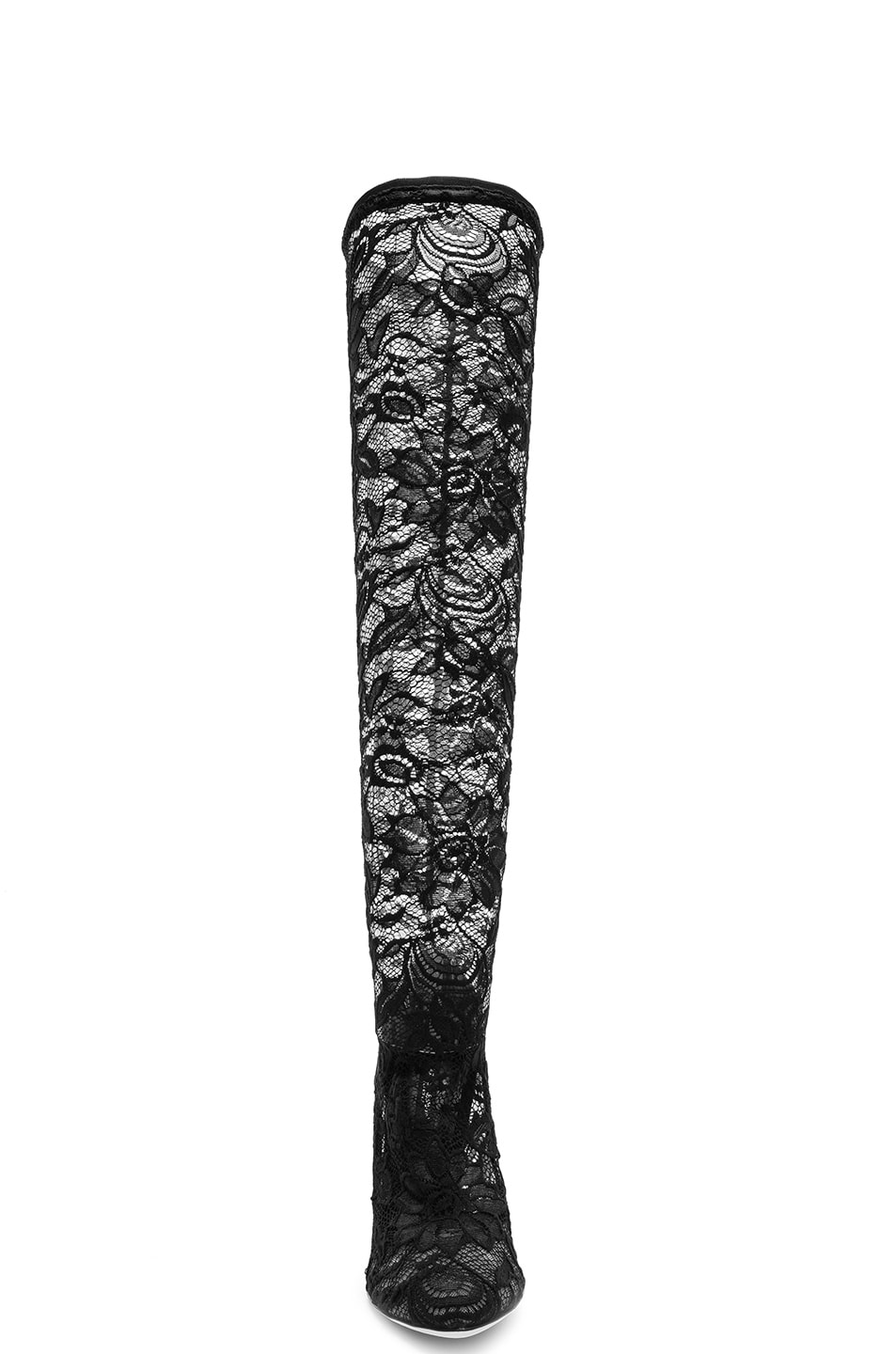 Image 4 of Dolce & Gabbana Stretch Lace Boots in Black