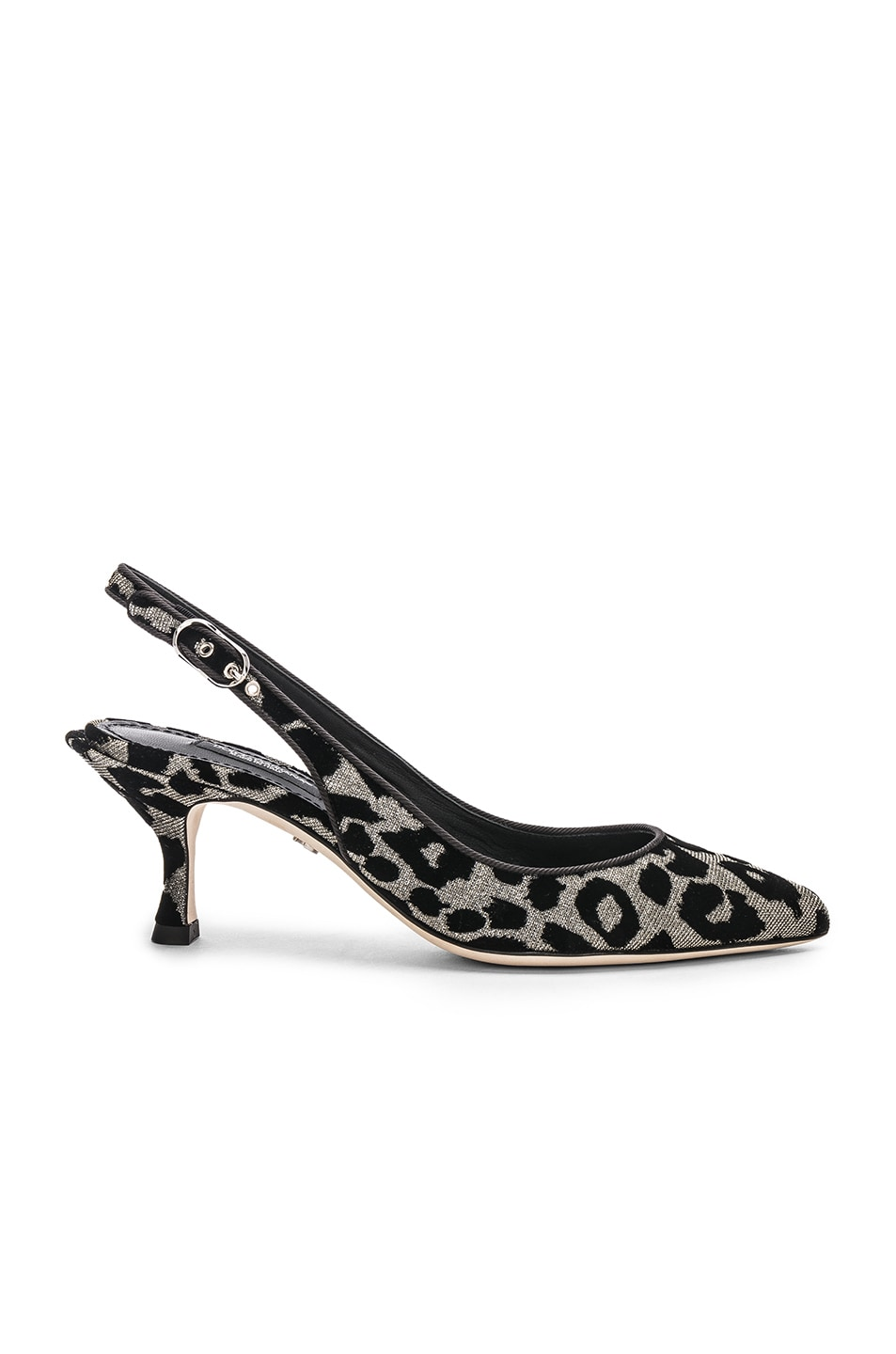 Image 1 of Dolce & Gabbana Leo Print Slingback Pumps in Gray