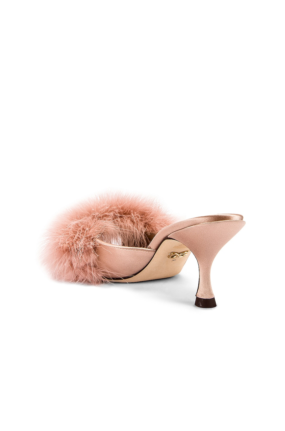 Image 3 of Dolce & Gabbana Feather Mules in Nude