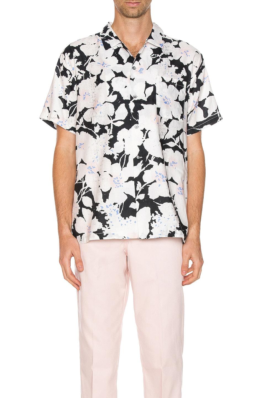 Image 1 of DOUBLE RAINBOUU Hawaiian Shirt in Cloud Control White