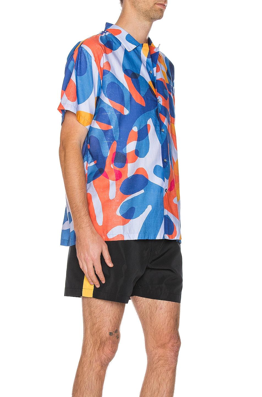 Image 2 of DOUBLE RAINBOUU Hawaiian Shirt in Balearic Beat