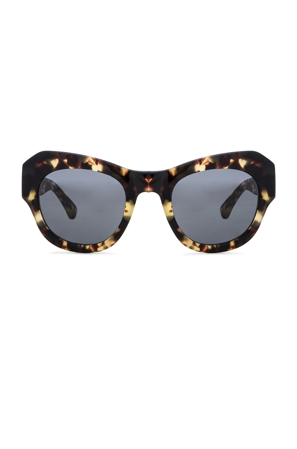 Image 1 of Dries Van Noten Angular Sunglasses in Dark Shell