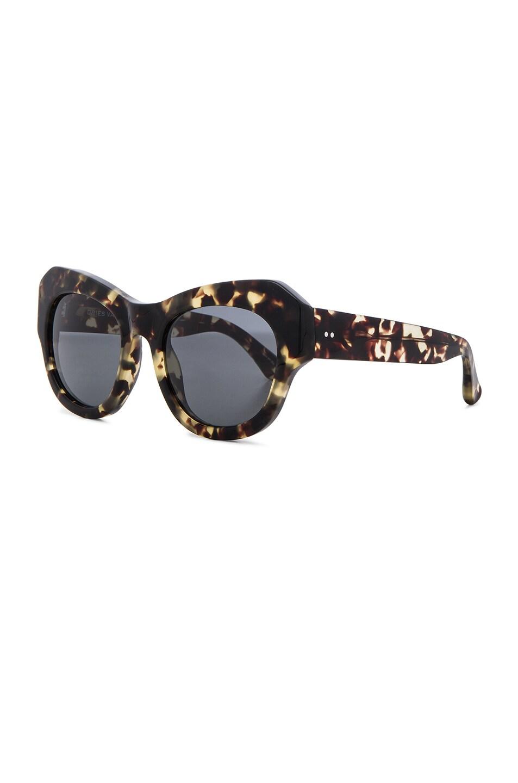 Image 2 of Dries Van Noten Angular Sunglasses in Darl Shell