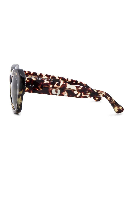 Image 3 of Dries Van Noten Angular Sunglasses in Darl Shell