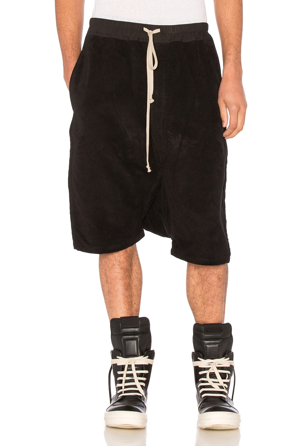 Image 1 of DRKSHDW by Rick Owens Pod Shorts in Black
