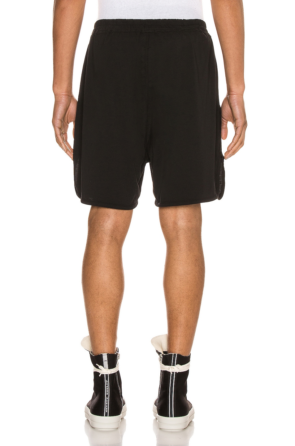 Image 3 of DRKSHDW by Rick Owens Dolphin Boxer Short in Black