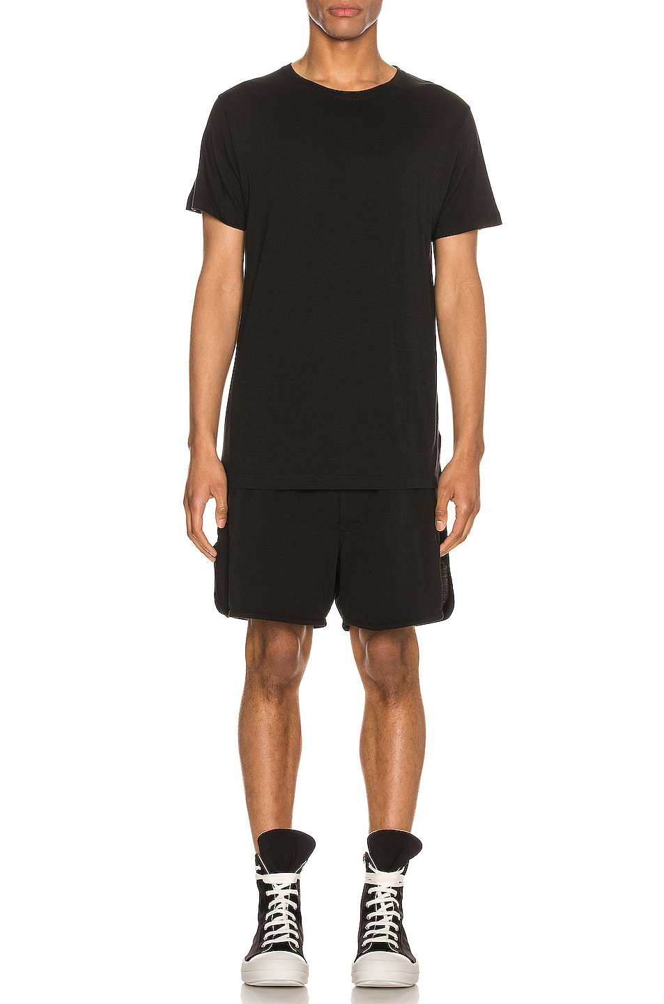 Image 4 of DRKSHDW by Rick Owens Dolphin Boxer Short in Black