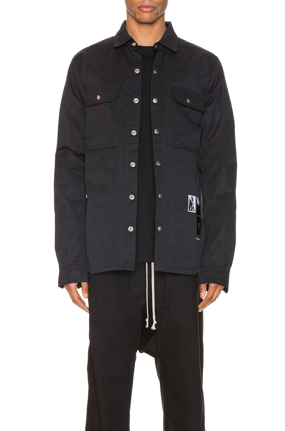 Image 1 of DRKSHDW by Rick Owens Outershirt in Black
