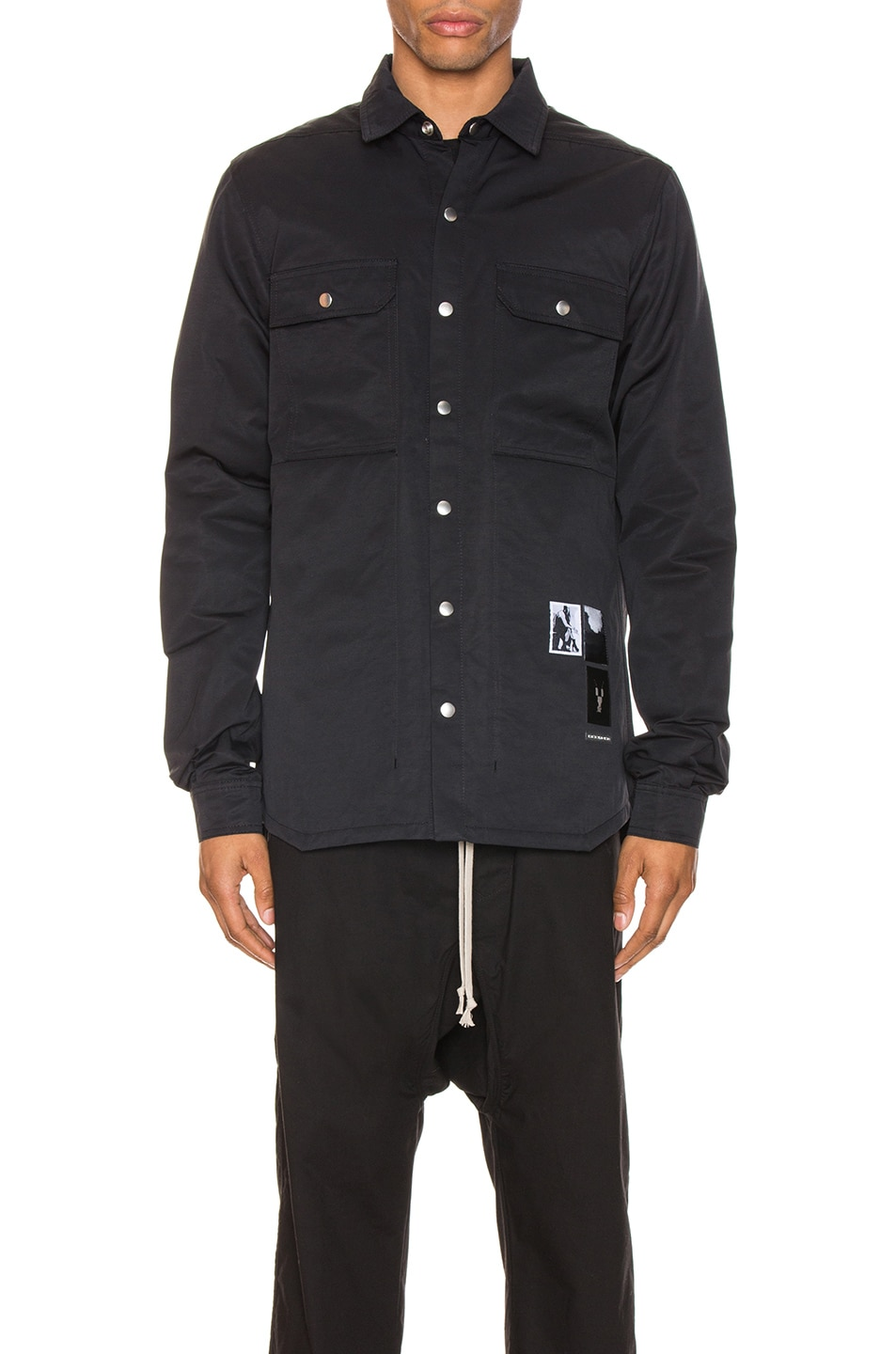 Image 2 of DRKSHDW by Rick Owens Outershirt in Black