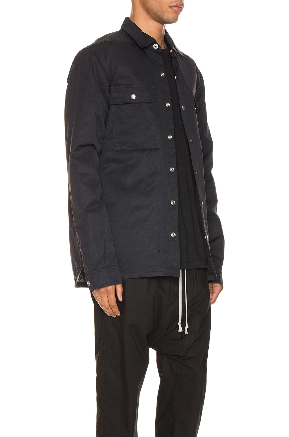 Image 3 of DRKSHDW by Rick Owens Outershirt in Black