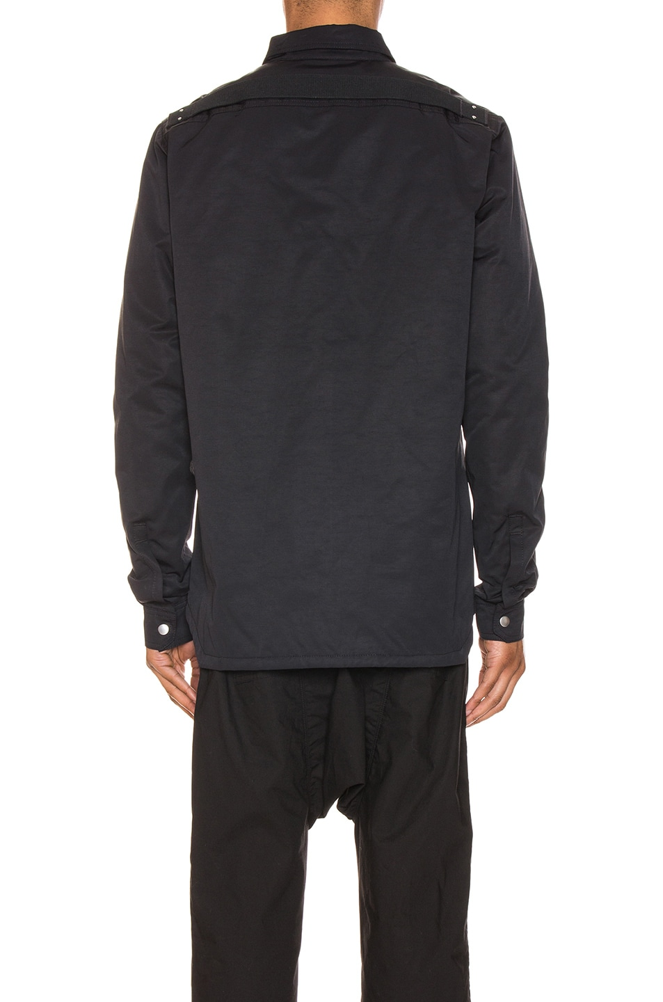 Image 5 of DRKSHDW by Rick Owens Outershirt in Black