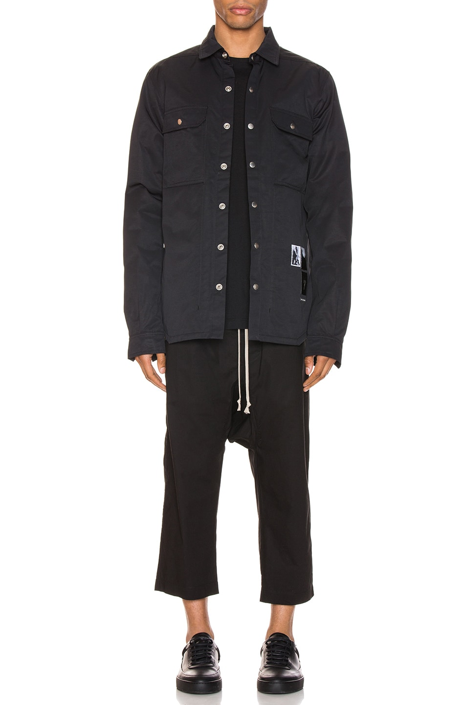 Image 6 of DRKSHDW by Rick Owens Outershirt in Black
