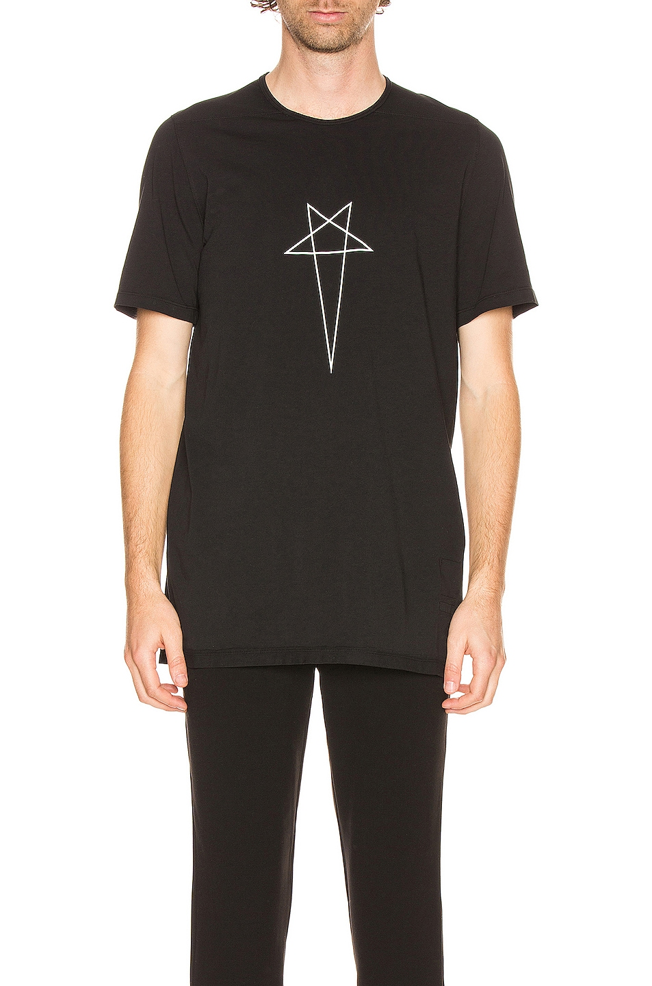 Image 1 of DRKSHDW by Rick Owens Level Tee in Black