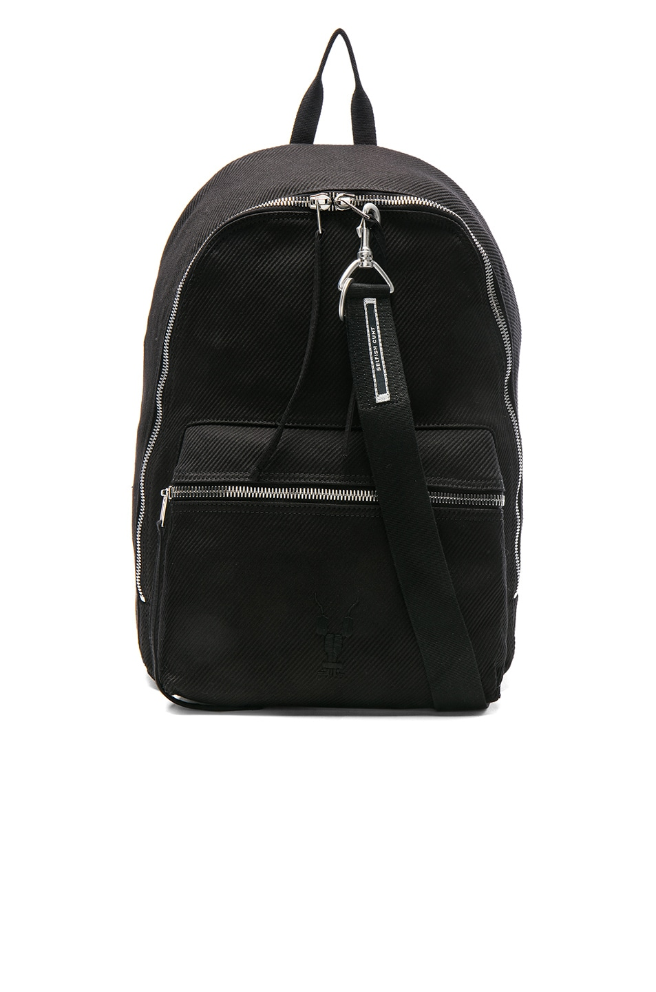 783ba24f4e Image 1 of DRKSHDW by Rick Owens Zaino Backpack in Black & Black