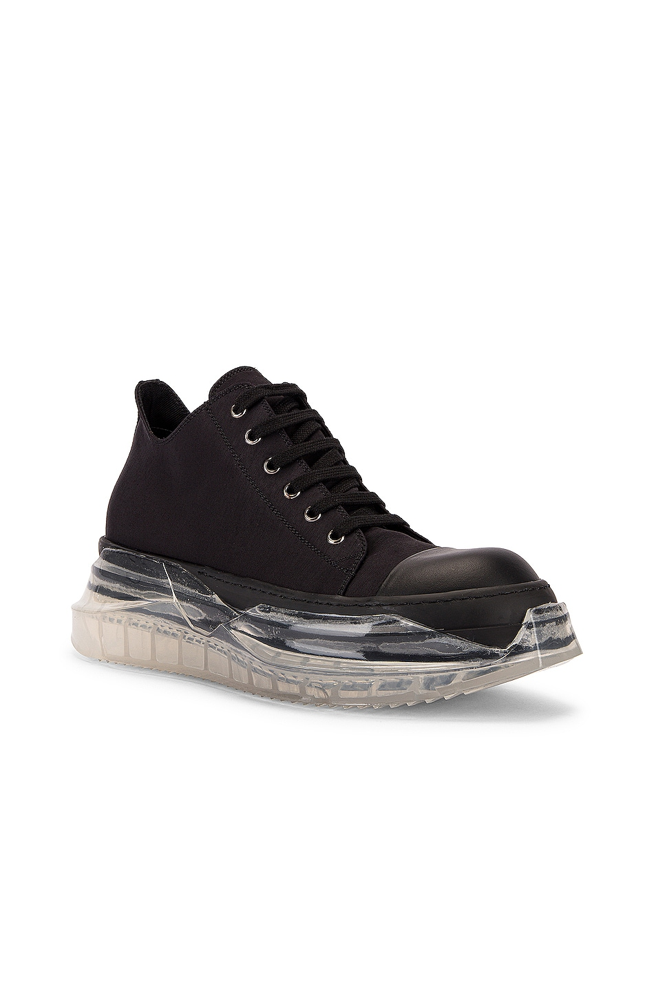 Image 1 of DRKSHDW by Rick Owens Abstract Sneaker in Black