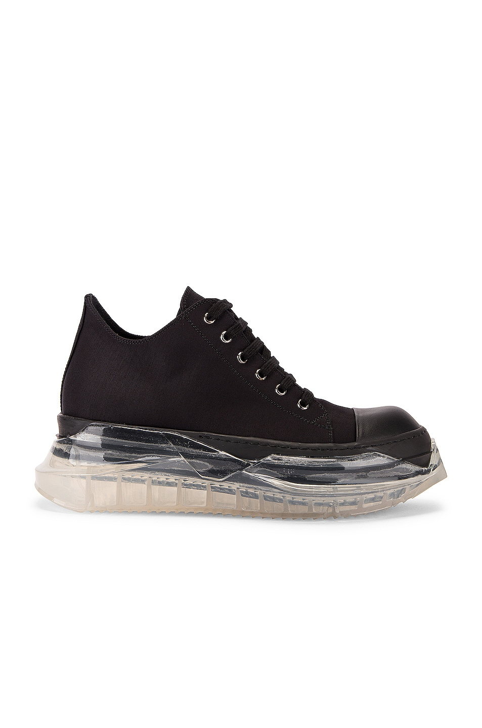 Image 2 of DRKSHDW by Rick Owens Abstract Sneaker in Black