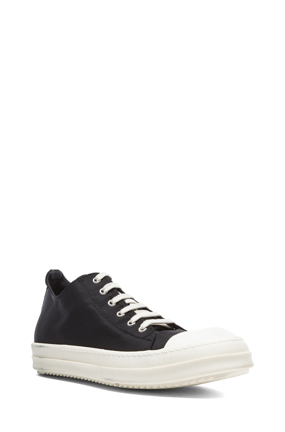 Rick Owens Off- Leather Low Sneakers Xw8qEQxMf