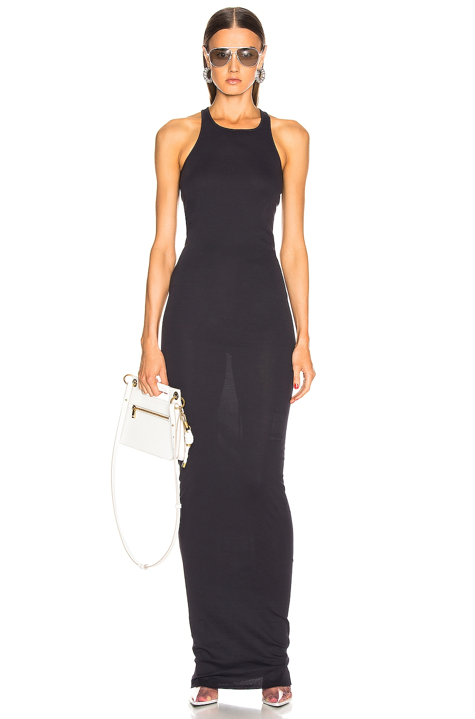 Image 1 of DRKSHDW by Rick Owens Rib Tank Gown in Indigo