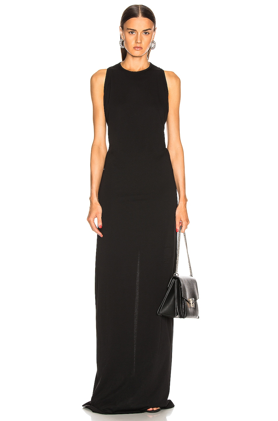 Image 1 of DRKSHDW by Rick Owens Column Gown in Black