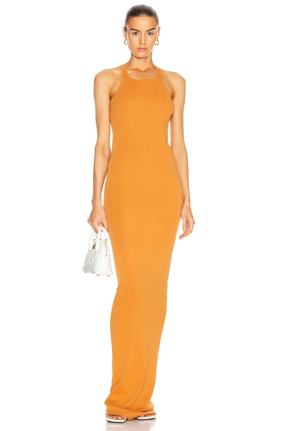 Image 1 of DRKSHDW by Rick Owens Rib Tank Gown in Tangerine