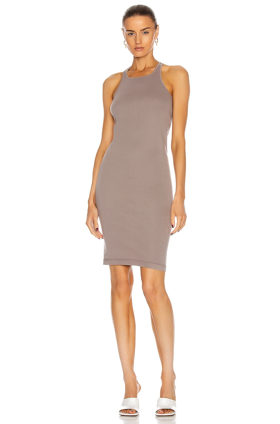Image 1 of DRKSHDW by Rick Owens Rib Tank Dress in Putty