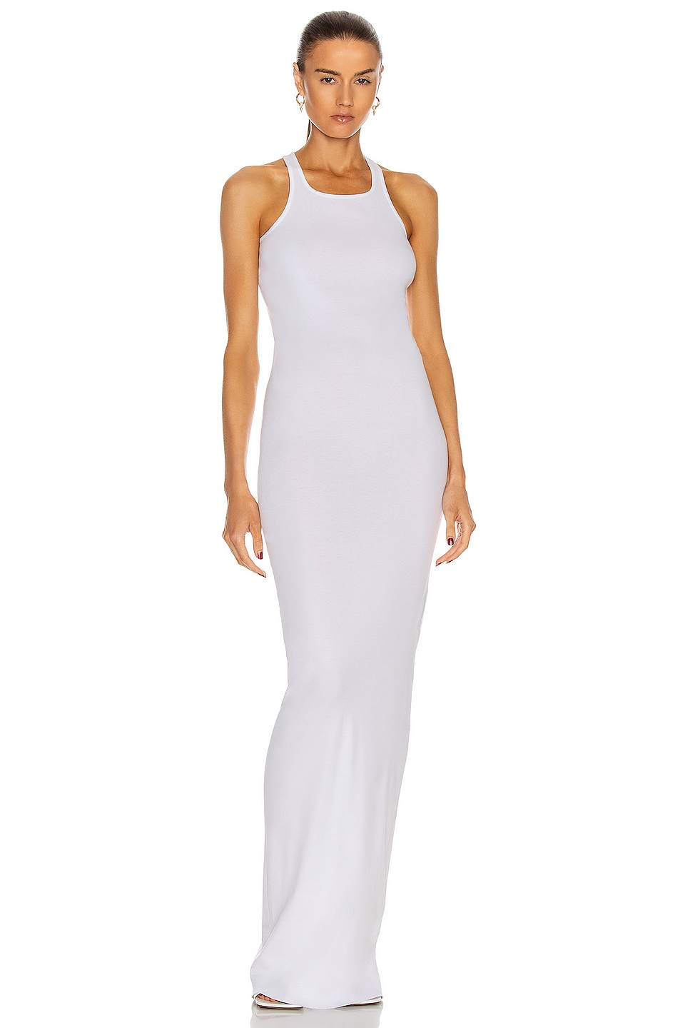 Image 1 of DRKSHDW by Rick Owens Rib Tank Gown in Chalk White