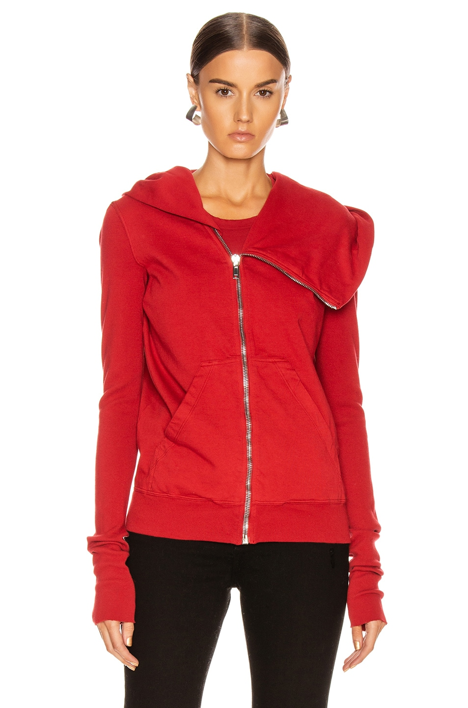 Image 2 of DRKSHDW by Rick Owens Mountain Hoodie in Cherry
