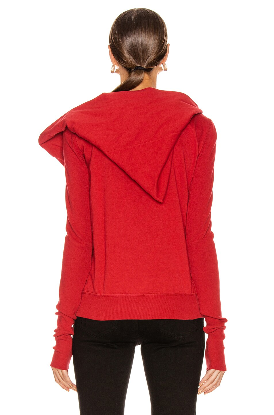 Image 4 of DRKSHDW by Rick Owens Mountain Hoodie in Cherry