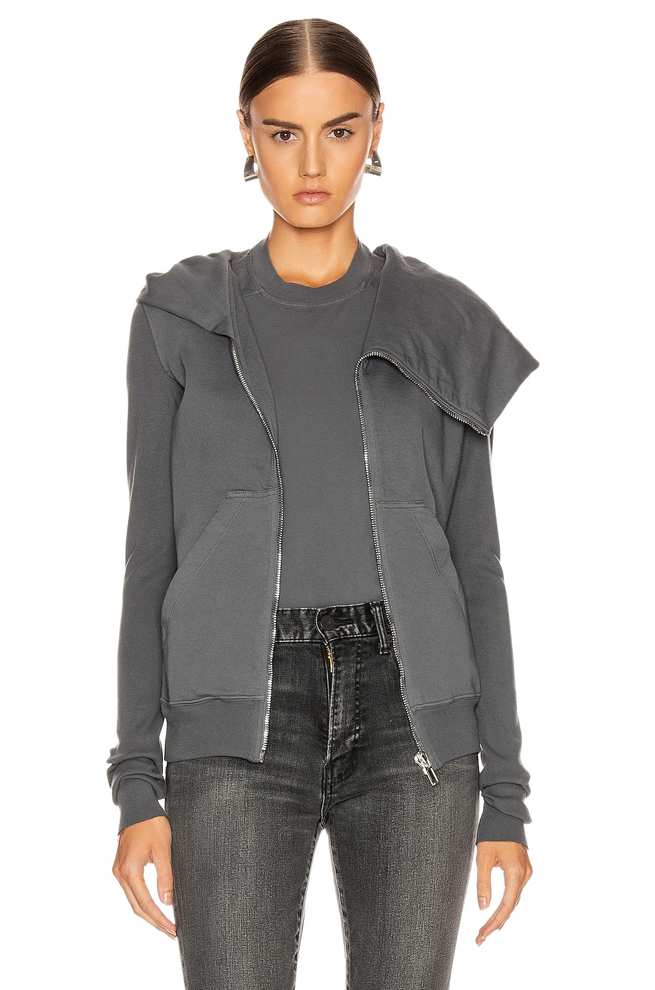 Image 1 of DRKSHDW by Rick Owens Mountain Hoodie in Flint
